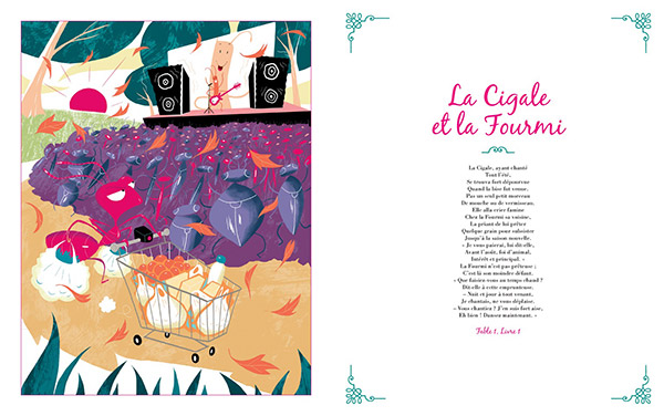 Les Fables de La Fontaine, illustrées par Thomas Tessier, avec un CD-audio